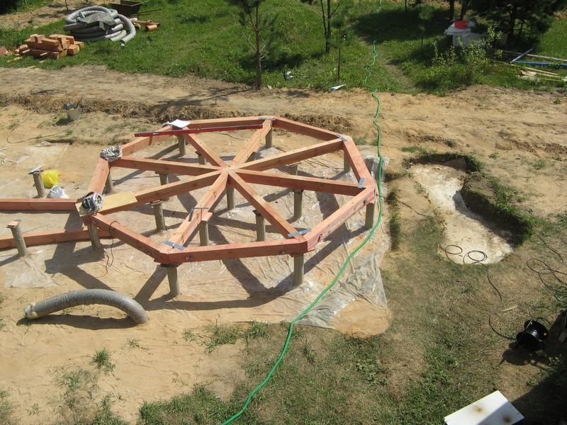 Строительство восьмиугольной беседки пошагово